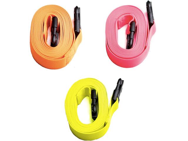 Swimrunners Guidance Cord Pull Belt 3 pack 2m Neon Yellow/Neon Orange/Pink
